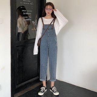 Sisyphi(シシピ) - Denim Jumper Pants