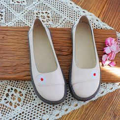 Daminsky - Canvas Flower Embroidered Flats