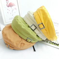 Dreamaway - Faux Leather Beret Hat