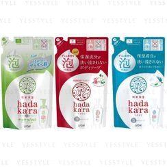 LION - Hadakara Foam Body Soap Bulk Refill 750ml - 3 Types