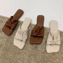 NODO - Square Toe Slide Sandals