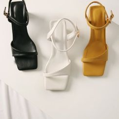 Wifky - Ankle-Strap Block-Heel Sandals