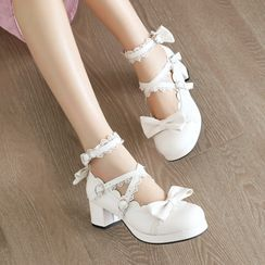 Shoes Galore(シューズガロア) - Block-Heel Mary Jane Pumps