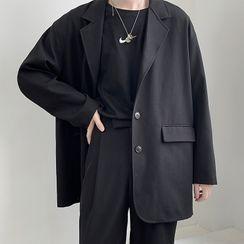 JUN.LEE - Single-Breasted Oversize Blazer