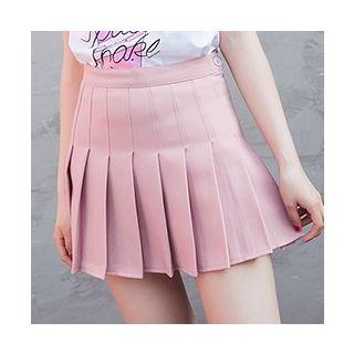 Femil - 高腰打褶裥迷你裙