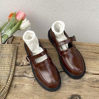 Bolitin - 仿皮多带乐福鞋