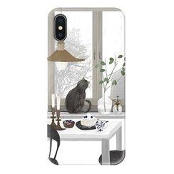 BOSUN - 小猫印花手机保护套 - iPhone 6 / 6 Plus / 7 / 7 Plus / 8 / 8 Plus / X