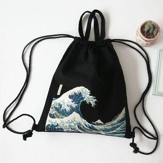 TangTangBags - Printed Drawstring Backpack