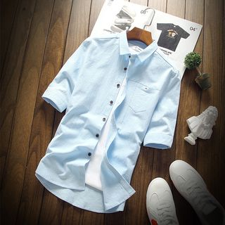 Wild Dragon(ワイルドドラゴン) - 3/4-Sleeve Linen Shirt