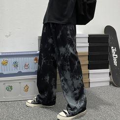 Banash - 紮染直筒褲