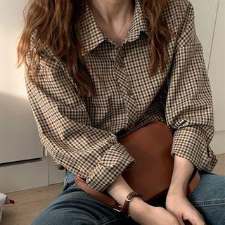 Apotheosis - 長袖格子襯衫