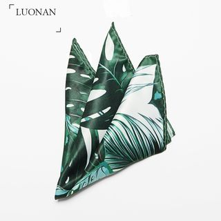 Luonan - Palm Tree Print Pocket Square