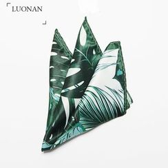 Luonan - Palm Tree Print Pocket Square