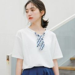 Baseris - Tie Short-Sleeve T-Shirt