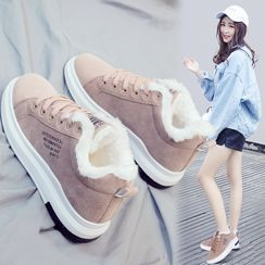 Fromhere - Fleece Lined Lace Up Sneakers