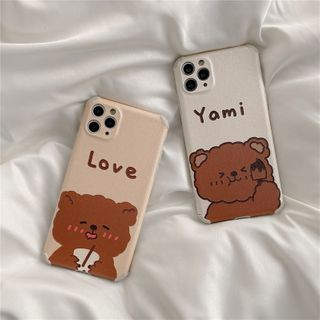 SIFFU - Bear Phone Case - iPhone 11 Pro Max / 11 Pro / 11 / SE / XS Max / XS / XR / X / SE 2 / 8 / 8 Plus / 7 / 7 Plus