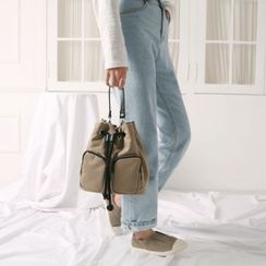 Wifky - Drawcord Fabric Bucket Bag