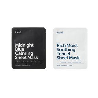Dear, Klairs - Masque de tissu (2modèles)