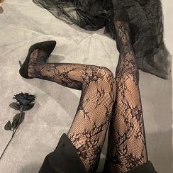 Wild Cat - 蕾絲魚網絲襪
