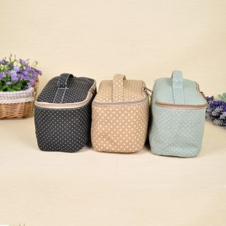 Hyole - Dotted Fabric Makeup Pouch