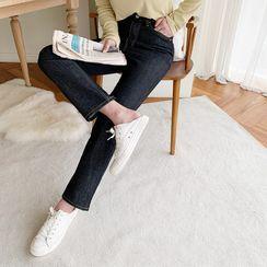 NANING9 - Raw Denim Straight Jeans