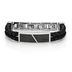 Kenny & co. - Cross Leather Bracelet (Black)