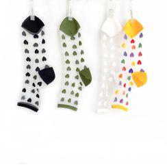Sockaday - Heart Print Mesh Socks