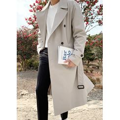 JOGUNSHOP - Double-Breasted Trench Coat With Belt
