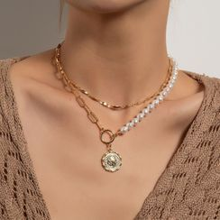 YASIN - 覆層仿珍珠項鏈