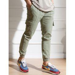 STYLEMAN - Drawstring-Waist Cargo Jogger Pants