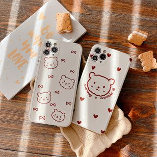 Mobby - Bear Print Phone Case - iPhone 11 Pro Max / 11 Pro / 11 / XS Max / XS / XR / X / 8 / 8 Plus / 7 / 7 Plus / 6s / 6s Plus