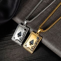 Andante - 扑克牌吊坠不锈钢项链