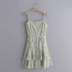 Amoura - Spaghetti Strap Floral A-Line Mini Dress