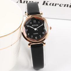 Epoca - Faux Leather Strap Watch