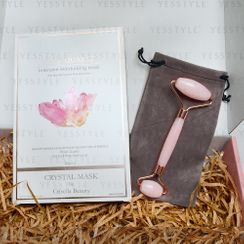 Crystal Mask - Rose Quartz Intensive Moisturizing Mask + Natural Rose Quartz Facial Roller Premium Box