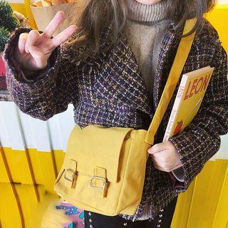 Yunikon - Canvas Buckled Messenger Bag