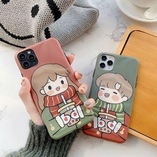 Vachie - Cartoon Couple Matching Mobile Case - iPhone 11 Pro Max / 11 Pro / 11 / XS Max / XS / XR / X / 8 / 8 Plus / 7 / 7 Plus / 6s / 6s Plus