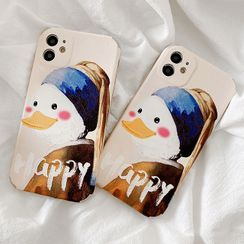 Mobby - Duck Painting Phone Case - iPhone 11 Pro Max / 11 Pro / 11 / SE / XS Max / XS / XR / X / SE 2 / 8 / 8 Plus / 7 / 7 Plus