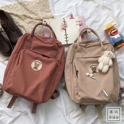 Chestnut Party - Applique Embroidered Backpack