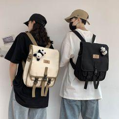 Mulgam - Canvas Flap Backpack / Brooch