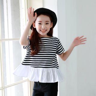 Meroboz - Kids Short-Sleeve Striped Top