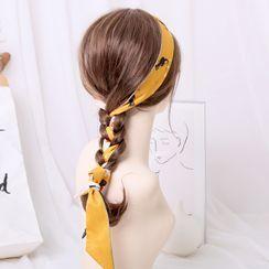 MISHORE - Print Narrow Scarf / Hair Tie