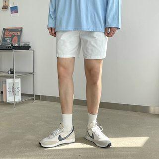 Seoul Homme - Cargo-Pocket Drawcord Shorts