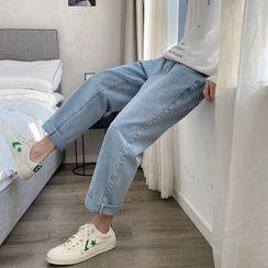 SuperLittle - 高腰直筒牛仔褲