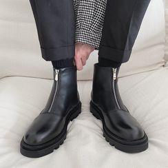 VEAZ - 仿皮拉鏈及踝靴