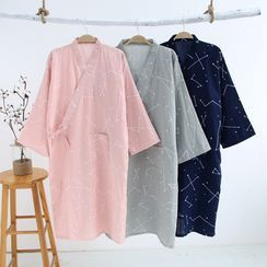 Rabenda - 情侶款印花和服睡袍