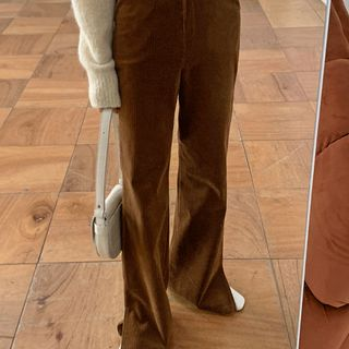 UPTOWNHOLIC - Corduroy Boot-Cut Pants