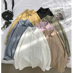Mudian - Long-Sleeve Plain Shirt