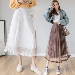 Glaypio - Pleated Midi Skirt