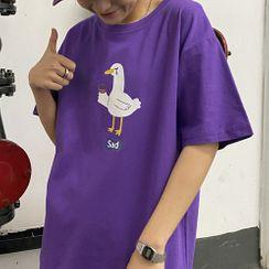 Contree - Goose Print Short-Sleeve T-Shirt